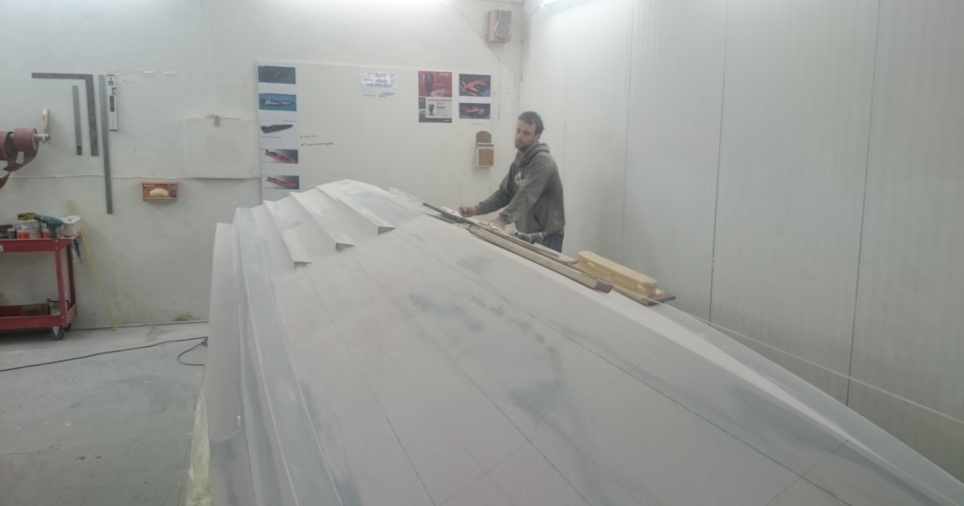 1. Preparing the hull for moulding
